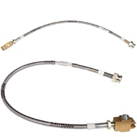 Toyota Landcruiser 80-105 Series Braided Extended Brake Hose Kit  (1990-2007)