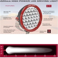 Narva Big Red 220mm 150W LED Driving Lights 1 Lux @ 470 Metres