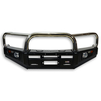 Dobinsons Stainless Loop Deluxe Black Steel Bullbar - Holden Colorado RG 06/2012-08/2016
