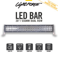 "Lightforce 20"" Dual Row Led Bar Combo Beam"