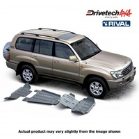 Drivetech 4x4/Rival Under Body Armour Bash Plate Kit - Toyota Landcruiser 100 Series